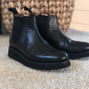 Grenson Ankle Boots Sz 8 Black Leather